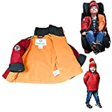Puffy Winter Baby Coat | Buckle Me Baby Patented Car Seat Water Resistant Collared Jacket for Boys and Girls - Featured on Shark Tank [LavaYou Red - 18M]