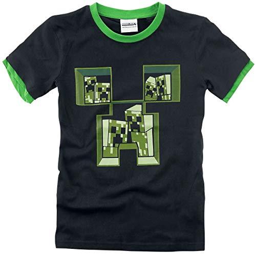 Minecraft Creeper Kinder & Babies T-Shirt schwarz/grün 128