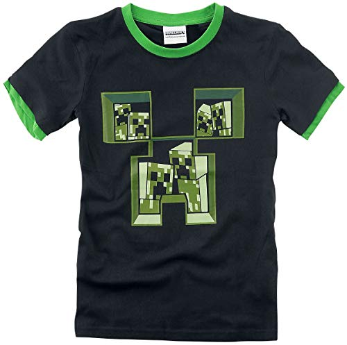 Minecraft Creeper Kinder & Babies T-Shirt schwarz/grün 128