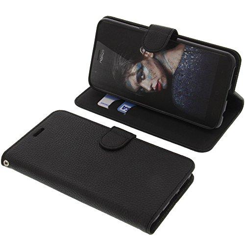 foto-kontor Tasche für TP-Link Neffos N1 Book Style schwarz Schutz Hülle Buch