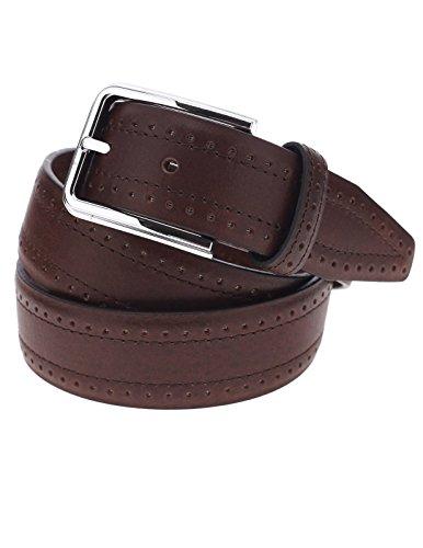 FLATSEVEN Cintura in pelle da uomo, Casual, con fori