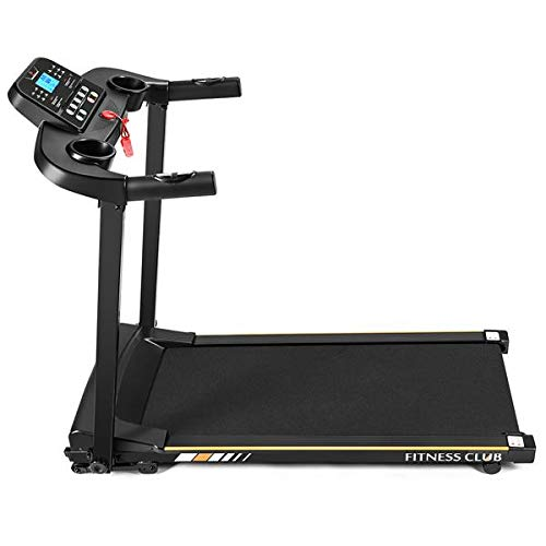 1500W plegable máquina de correr motorizada eléctrica, pantalla táctil LED, contador de calorías, teledirigido