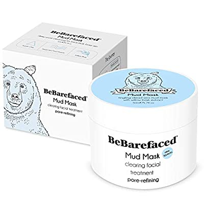 BeBarefaced Face Masks Beauty | 100% VEGAN Facial Mud Clay Mask | With Dead Sea Minerals And Salicylic Acid | Blackhead And Acne Treatment | Refine Pores, Exfoliate And Brighten | Vegan Skincare Products | 50 ml from Bebarefaced Ltd
