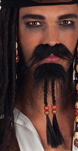 Boland 01811 - bigote y barba de pirata, un tamaño, negro