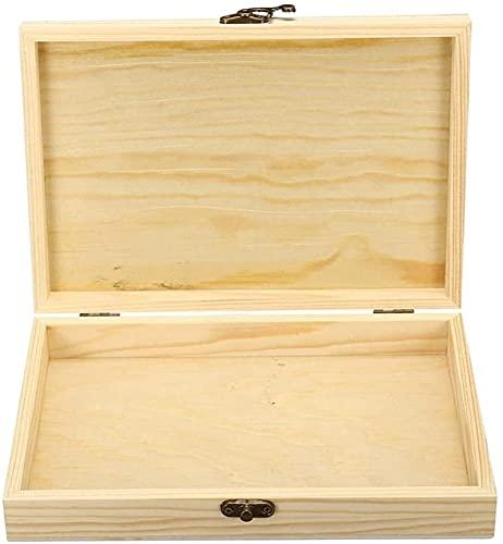 Boîte à cigares à Rabat Simple Emballage Caisse en Bois rectangulaire boîtes de Rangement Portables 250x170x40mm boîte décorative, YKHAO