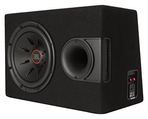 JBL S2-1224SS Car Stereo Audio System 12''-Bassreflexgehäuse mit patentierter Slipstream-Technologie und integrierter Belüftung - Schwarz