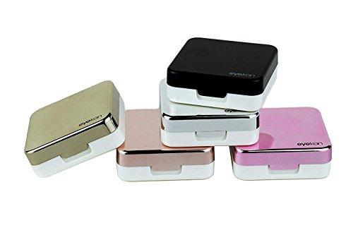Mini Travel, einfacher Kontaktlinsenbehälter rose gold