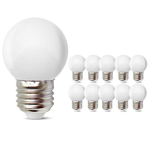 E27 Kleine LED Mood Glühbirnen 1W Weichweiß 3000K Nicht dimmbar Energiesparend 10W Äquivalent für Schlafzimmer Badezimmer Makeup Spiegel Veranda Wandleuchten Tischlampe Nachtlicht 10er