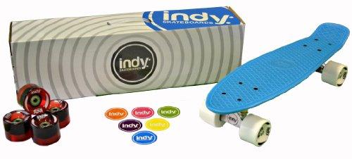 Indy Skateboards Retro Cruiser 70er Jahre Stil Vintage 70er Jahre Penny Globe Bantam Style (Bangin Blue)