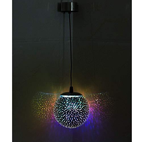 TAKEME Hanging Solar Lights Outdoor Garden, Decor Lights,Gazing Ball Pendant LED 3D Firework Waterproof Lights