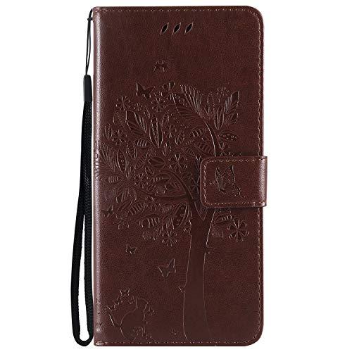 Hülle für Huawei [Mate 20 Lite] Hülle Leder,[Kartenfach & Standfunktion] Flip Case Lederhülle Schutzhülle für Huawei Mate 20Lite - EYKT020888 Kaffee