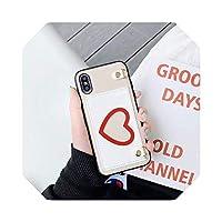 ラグジュアリーラブカードパッケージハードレザーフォンケースアップル用For iphone用6S 6S 7 7 plus 8 7Plus 8Plus X XS XR XSMAXピンクカバーコック-A-for iphone 6 6s plus