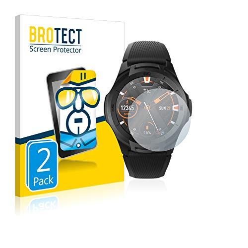 BROTECT Schutzfolie kompatibel mit Mobvoi Ticwatch S2 (2 Stück) klare Bildschirmschutz-Folie