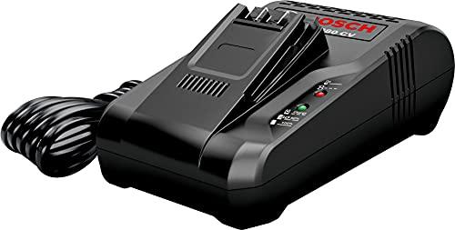 Bosch Schnell-Ladegerät für Akku-Staubsauger, BHZUC18N, für austauschbare 18-Volt Power for ALL Akkus passend für Bosch Unlimited Staubsauger, in 60 Min vollständig aufgeladen, schwarz
