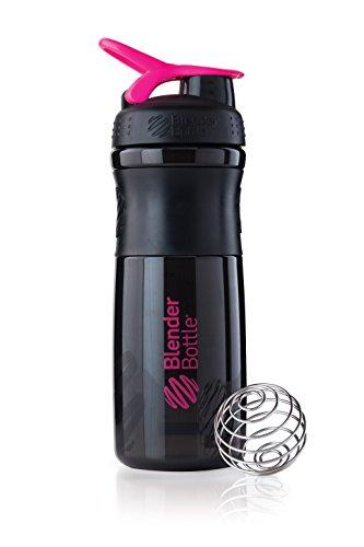 BlenderBottle Sportmixer Tritan Shaker / PRotein Shaker / Wasserflasche / Diät shaker (28oz / 820 ml) - schwarz-pink