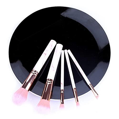 Conjunto de 5/10 peças de pincéis de maquiagem mármore para rosto, olhos, cosméticos, pó, base, sombra, cosméticos, sobrancelhas profissionais macias (tamanho : G)