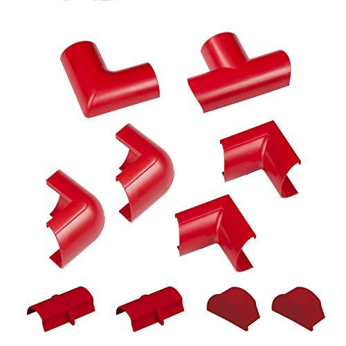 D-Line Mini Multipaquete de accesorios para cables de 30x15mm Mini, 10 piezas...