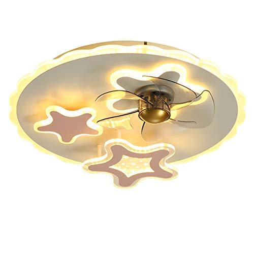 MJJLT Ventilador De Techo con Iluminación Luz De Techo LED Moderna Regulable, 42 W con Control Remoto Luz De Ventilador Nórdico Invisible, Dormitorio, Sala De Estar, Luz De Ventilador De Techo