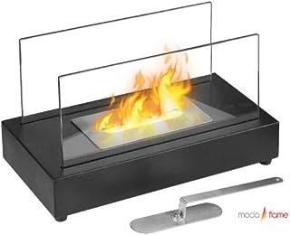 Moda Flame Vigo Ventless Tabletop Bio Ethanol Fireplace in Black