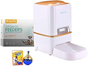 BELOPEZZ 6Liters Smart Pet Automatic Feeders for Dog and Cat Food Dispenser with Timer Programmable Up to 4 Meals per Day