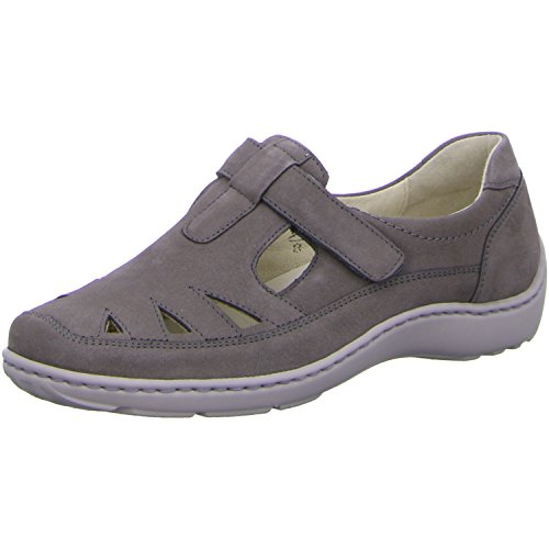 Waldläufer Damen Slipper Henny 2436 3 55 496510191/088 grau 89783