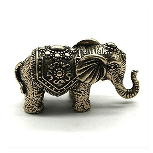 GAOYINMEI Escultura de escritorio Estatua Elefante Decoración Estatua Animal Artesanías Modelo Bronce...