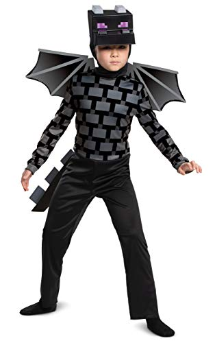 Minecraft Ender Dragon Costume for Kids, Video Game Inspired Character Outfit, Classic Child Size Large (10-12) Black