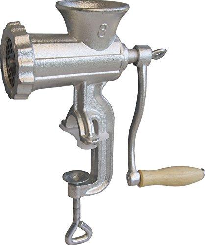 GSW 588416 FLEISCHWOLF Größe Nr. 8 mit Gebäckaufsatz, Gusseisen, silber, 25 x 9.6 x 30.5 cm