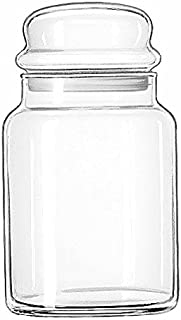 Libbey 70997 Storage Jar with Lid (Set of 12), Clear