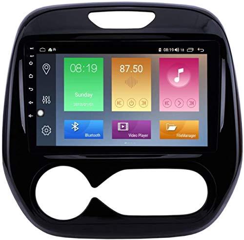 9 Pulgadas Android 9.1 Sistema de navegación Estéreo GPS para Renault Captur Clio 2011-2016 con FM Am RDS Radio Radio/Mirror Radio/Sistema Multimedia DSP/AV-out USB, 4 núcleo, 4G + WiFi: 2 + 32GB