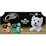 CESAR Soft Wet Dog Food Filets in Gravy Poultry Lovers Variety Pack, (24) 3.5 oz. Easy Peel Trays