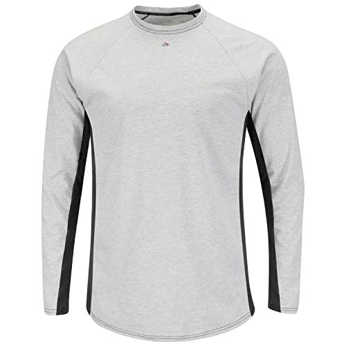Product Image of the Bulwark Flame Resistant 5.5 oz Cotton/Polyester Long Sleeve Base Layer,Grey,2X-Large