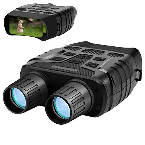 "Aurho Night Vision Binoculars, 720P HD Digital Infrared Hunting Binocular 300 Yards IR Camera with Video Recorder with 2.31"" TFT LCD Photos Videos Playback for Wildlife"