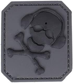 G-CODE SKULLGUY Patch (Grey with Black Skull)