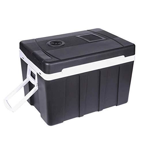 Lyn Mini-koelkast voor in de auto, 50 liter, voor verwarming en koelbox, kleine koelkast, mini-koelkast