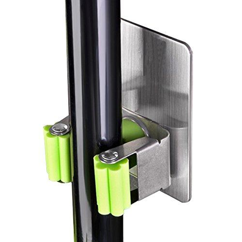 Gerätehalter Wandhalterung, Bigwinner Mop Halter Stark Selbstklebend Mop und Broom Holder Organizer Anti-Rutsch / Kein Bohren