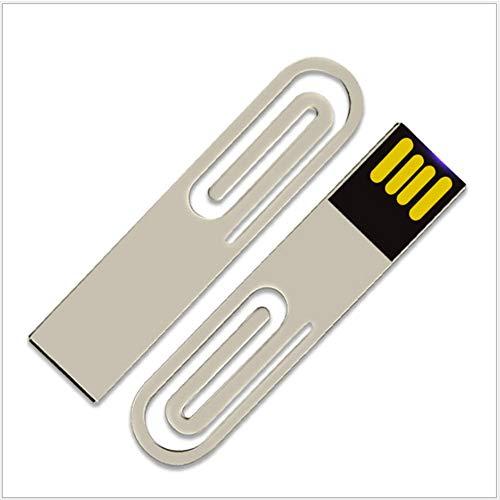 USB-Stick Flash Drive Speicherstick USB-Flash-Laufwerk Memory Stick Thumb Pen USB2.0 Kreativ Büroklammer Stil Metall Mini Stift Ultra Dünn Lesezeichen Buchstütze Tragbar Geschenk (8GB)