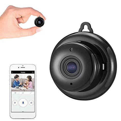 Mini Kamera, 1080P HD Small Portable Wireless Überwachungskamera, Baby Kamera mit IR Bewegungserkennung und Nachtsicht, Micro CCTV Videokamera für den Innen und Außenbereich