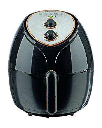 Gourmet maxx 03335, friggitrice ad aria calda con cestello XXL, 1800 W, colore nero