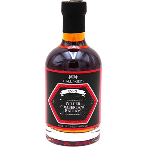 Hallingers Gourmet-Essig (350ml) - Wilder Cumberland-Balsam (5% Säure) (Exklusivflasche) - zu Passt immer