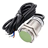 Heschen Sensor de proximidad inductivo PR30-10DN2 tipo cilíndrico, detección de 10 mm, M30 redondo, 12-24VDC 3 cables, blindado, NPN, NC (normalmente cerrado) CE