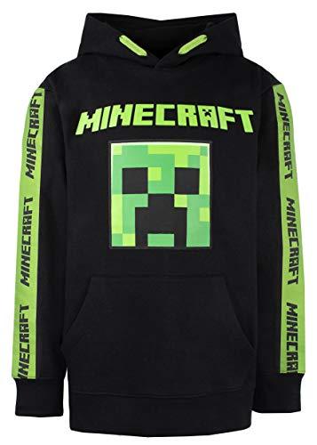 Minecraft - Minecraft Kleidung - Jungen Minecraft Hoodie - 100% Baumwolle Schwarz Hoodie - Grün Grün Creeper Hoodie - Minecraft Gifts - Schwarz Gr. 10-11 Jahre, Schwarz