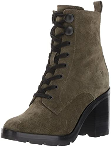 FRYE damen& 039;s Myra Lug Combat Stiefel, Forest Soft Oiled Suede, 9 M US