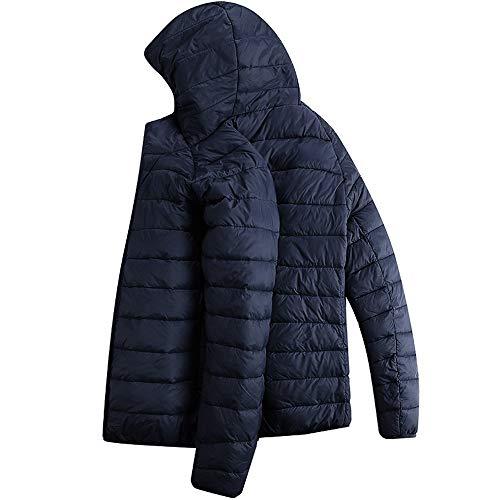 Herren Daunenjacke mit Kapuze, Baumwollkleidung KaloryWee Männer Herbst Winter Coat Warmer Wintermantel Reißverschluss Hoodie Leicht