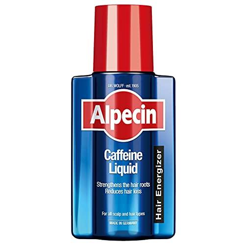 Alpecin Coffein-Liquid – Hair Energizer zur Vorbeugung von erblich bedingtem Haarausfall bei Männern – zur Stärkung der Haarwurzel – 1 x 200 ml