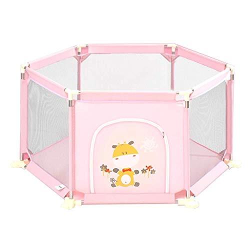 Parc à bébé, Jouer bébé Playpen Centre Enfants Activité de sécurité intérieure Accueil Jouer Jardin Toy (Color : Pink)
