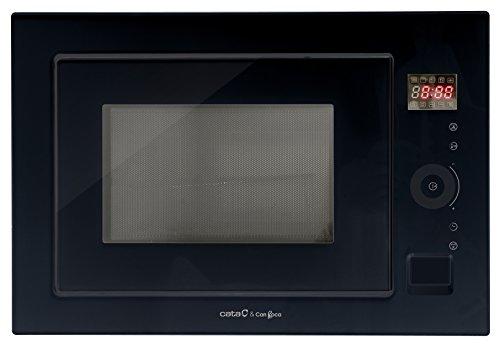 Cata MC 25 GTC 25L 900W Negro-Microondas (Integrado, 25 L, 900 W, Tocar, 1000 W), 25 litros, Vidrio, Acero Inoxidable
