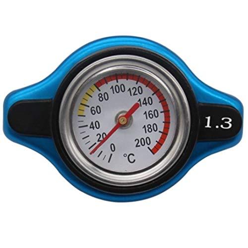SODIAL 1,3 Bar Autotemperaturanzeige KüHlerdeckel mit Utility Safe Thermostatischer KüHlerdeckel Tankdeckel (1.3)
