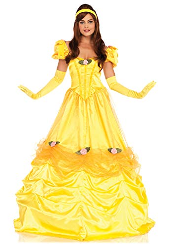Leg Avenue Deluxe Belle of The Ball Mujer, Amarillo, Large (EUR 42-44)