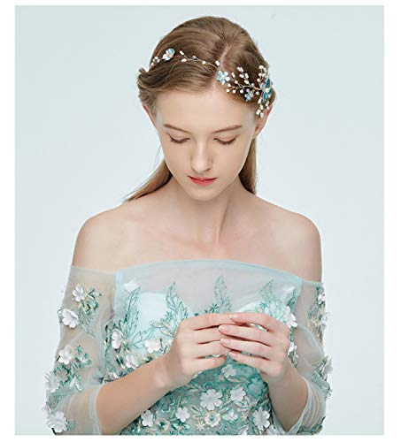 Diadema de novia simple y elegante accesorio de boda de aleación tejida...